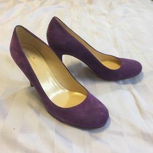 Kate Spade purple suede Heels